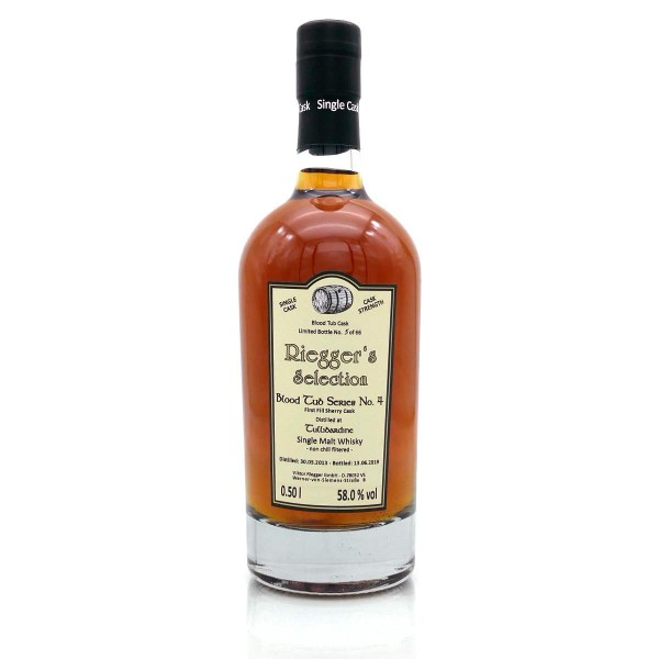 Blood Tub Series No. 4 Tullibardine 2013-2019 First Fill Sherry Cask 58 % vol Riegger's Selection