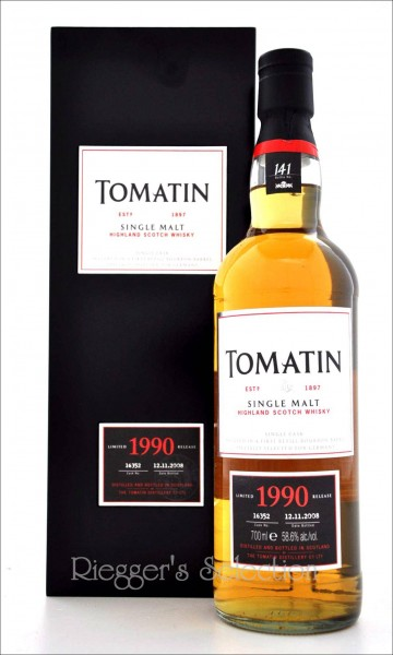 Tomatin 1990 - 18 Jahre Single Cask No. 16352 in Holzbox