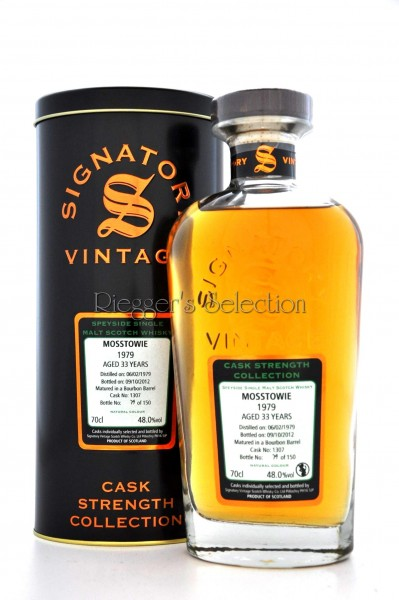 Mosstowie 1979 33 Jahre Signatory Vintage Cask Strength