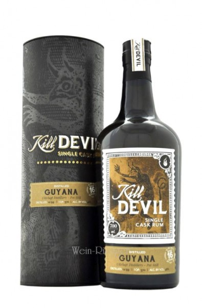 Hunter Laing Kill Devil Guyana 16 Jahre Single Cask Rum