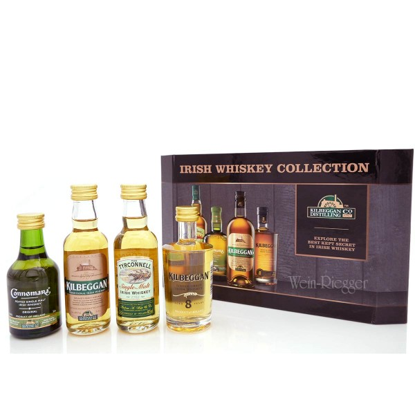 Irish Whiskey Collection Tyrconnell, Connemara, Kilbeggan, Kilbeggan Grain